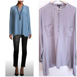 Eileen Fisher 100% Silk Shirtail Hem Tunic XL